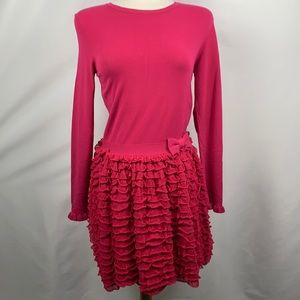 RED Valentino Pink Ruffle Dress
